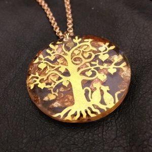 arbre de vie modene doré 3cm