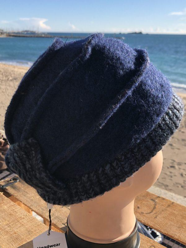 Bonnet chic en laine , avec nœud derrière